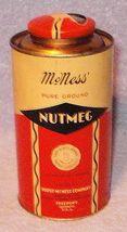 Vintage Advertising Spice Tin Furst McNess Nutmeg Half Pound Size - $8.95