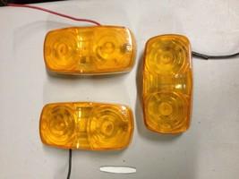 3 PM 138-15 Amber Truck Trailer Marker Lights Vintage Rat Hot Rod (a22) - $17.30