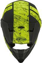 New Adult XL Gmax GM46 Dominant Matte Black/Hi-Viz Offroad Helmet DOT image 3