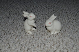 1970s Matching Pair Goebel Porcelain White Rabbits/Bunnies-Great for Easter - $33.99