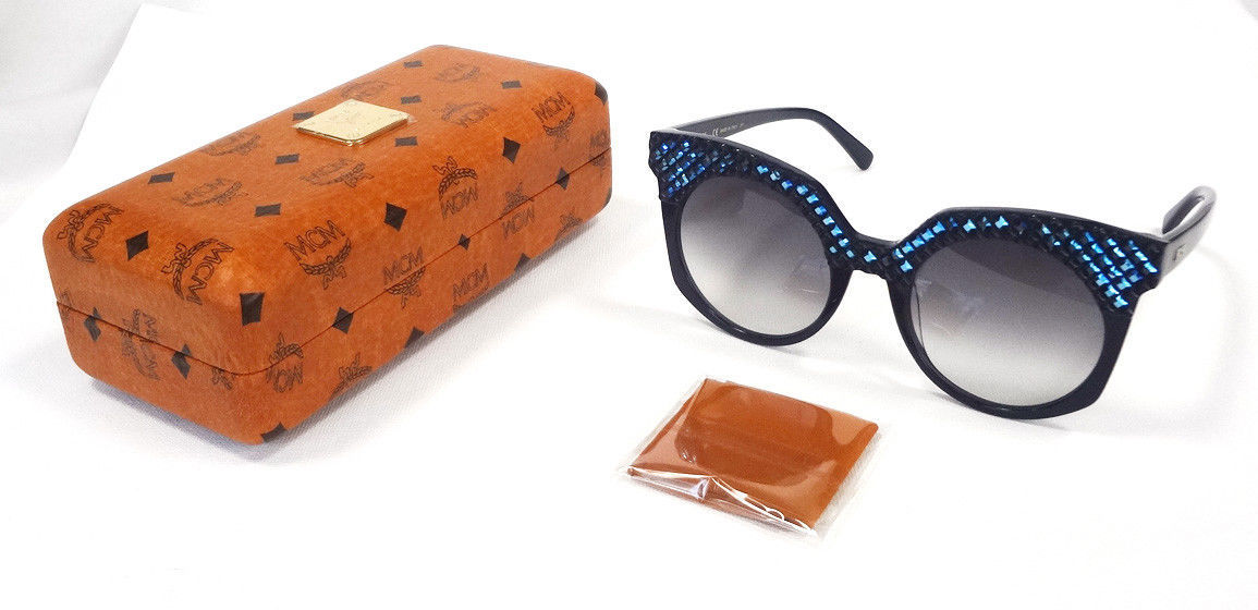 MCM Women's Sunglasses MCM643SR Blue 52-21-140 MADE IN ITALY - New!