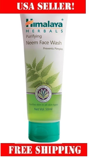 Himalaya Purifying Neem Face Wash 50ml clears impurities and helps clear pimples