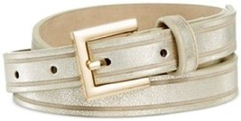 Style Co. Grooved Panel Belt Gold S - $10.80