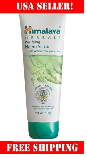 Himalaya Purifying Neem Scrub 50g removes impurities and dead skin cells