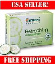Himalaya Refreshing Cucumber Soap 75g nut grass,turmenic,cucumber & coco... - $7.49