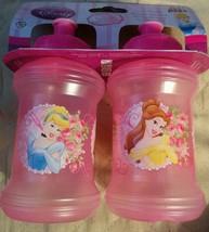 Disney Princess Kids Girls 2 Sports Bottles Set Dishwasher Safe Spillpro... - $8.80
