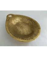 Vintage Gold Floral Rose Pattern Trinket Vanity Dish - $20.79