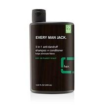 Every Man jack 2-in-1 AntiDandruff Shampoo + Conditioner, Eucalyptus Min... - $9.85