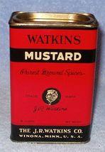 Vintage Winona MN. J.R. Watkins Spice Tin Mustard 8 0z  - $7.95