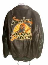 Avirex Leather Jacket 6XL Ah Kea Rock Native American Vintage Gridiron W... - $186.99