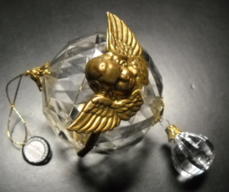 Licensed Design brn Christmas Ornament Angel Globe with Hanging Pendent - $6.99
