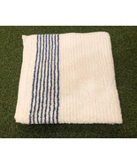 """Large 22"""" x 44"""" Golf Tour Caddy Towel - White with Blue Stripe - $28.99"""