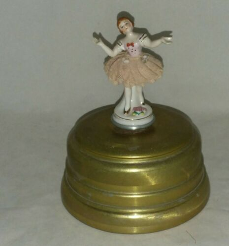 Primary image for Vintage Musical Ballerina Video to watch Swiss Co Metal Stand New York NY