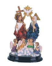 5 Inch Statue of Holy Trinity Father Son Holy Spirit Angel Jesus Christ Figurine - $19.00