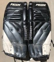 "Prism Phenom Hockey Goalie Pads 30"" Tall 12"" Wide Black White  - $195.99"