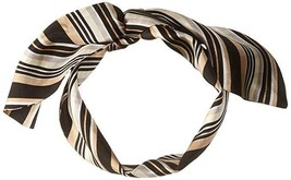 Vince Camuto Women's Pop Stripe Twilly Scarf, BLACK CAMEL, One Size - $13.86