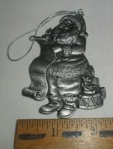Avon Collectibles Pewter Christmas Ornament ~ 1996 Santa - $9.85