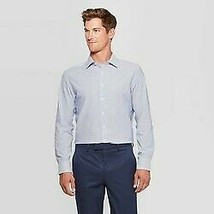 Men's Plaid Standard Fit Long Sleeve Dress Button-Down Shirt  Goodfellow & Co  M