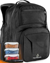 Meal Prep Backpack With Containers Insulated Lunch Bag for Men Lunchbox ... - $64.12