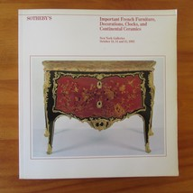 Sotheby's Auction Catalog October 1983 French Furniture Decorations Clocks  - $8.90