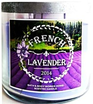 Bath & Body Works French Lavender 3 Wick Candle 14.5 Oz Provence 2014 NEW - $25.39