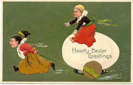 Easter Greetings Paul Finkenrath of Berlin 1909 Post Card - $7.00