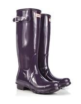 HUNTER ORIGINAL TALL GLOSS PURPLE URCHIN WELLINGTON BOOTS Welly NWT BN - $2.199,15 MXN