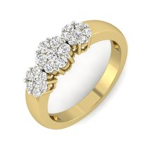 Beautiful Fantasy Design Jewelry Ring Solid 14k Yellow Gold Wedding Gift For Her - $439.99