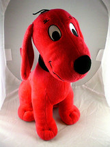 Clifford Big Red dog Kohls Cares for Kids 14 inch name on collar soft Plush toy - $11.87
