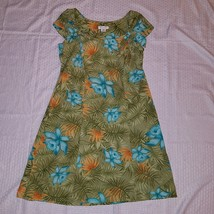 Women's Vintage Miss Dorby Dress ~ Sz 14 ~ Knee Length ~ Green ~ Floral - $9.27