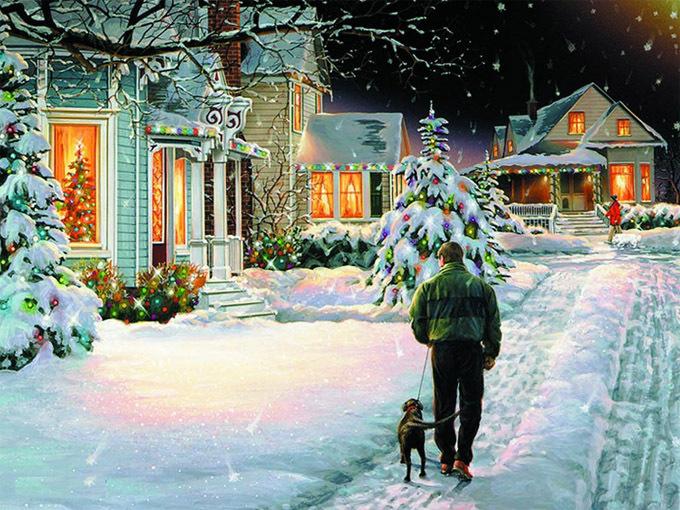 Christmas night  cross stitch pattern
