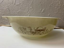 Pyrex Vintage Mixing Bowl  Forest Fancies w/Mushrooms #444 4 Quart - $13.98