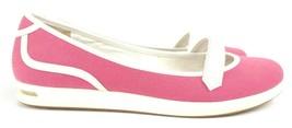 VTG Cole Haan Women Pink Canvas Comfort Mary Jane Flats Floral Sz 8B - $27.23