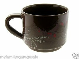 2009 Starbucks Brown Stackable Holiday Leaves & Berries Coffee Mug - $22.95
