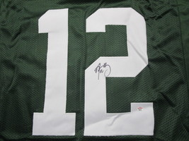 AARON RODGERS / AUTOGRAPHED GREEN BAY PACKERS CUSTOM FOOTBALL JERSEY / COA image 3