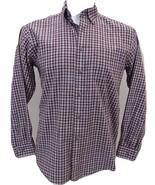 L.L. Bean Plaid Long Sleeve Shirt Men's Size Medium-Regular 100% Cotton - $26.68