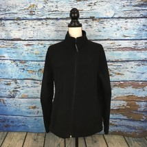 Woolrich Womens Sweater Size L Black Zip Up Mock Neck Long Sleeve Front ... - $30.67