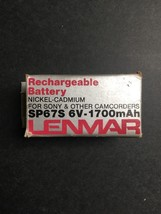 Lenmar Rechargeable Battery For Sony & Other Camcorders SP67S 6V-1700mAh - $24.50