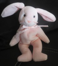 Ty Beanie Baby Hoppity the Pink Bunny 2 Tag Errors & PVC Filled - $13.36