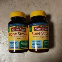 SET OF 2-Nature Made Bone Strong Vit D, Calcium, Magnesium 60 softgels EXP 10/21 - $14.99