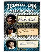 Babe Ruth Lou Gehrig - Bill Dickey Iconic Ink Triple Cuts Signatures Fac... - $12.82