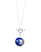 Genuine GINEVA Murano Glass Machiavelli Medio Sterling Toggle Pendant - $69.95