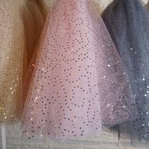 Women Girl Sparkle Tulle Skirt Mini Tulle Skirt A-line Red White Pink Gray image 7