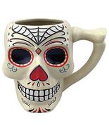 Day of the Dead spider Web Skull 18 oz Ceramic Mug Dia de los Muertos NE... - $18.37