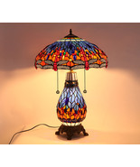 Tiffany  Stained Glass Flower Dragonfly Butterfly Desk Table Lamp E27 Li... - $346.50+