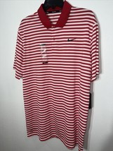 Nwt $55 Nike Golf Dry Victory Stripe Golf Polo Men's Size Large Red 891239-657 - $34.64