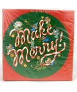 Vintage Springbok Mini Jigsaw Puzzle Make Merry Sealed 60+ Pieces Round ... - $22.51