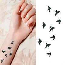 Arm Temporary Tattoos Art Sticker Waterproof Women Small Birds Fly image 2