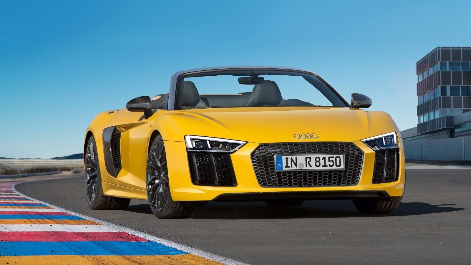 Primary image for 2017 Audi r8 Spyder v10 yellow 24X36 inch poster, sports car