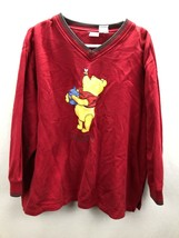 DISNEY PLUS Winnie The Pooh Manica Lunga Felpa Misura 1X - $10.66